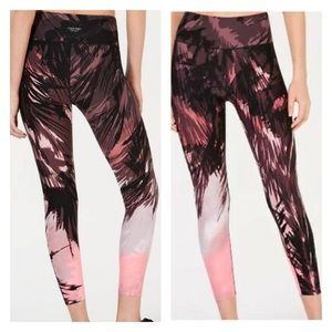 Calvin Klein Performance Pink Palm Print Leggings